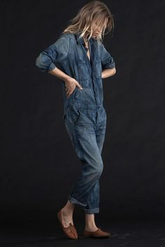 ⭐ denim overall workers Jeans Jumpsuit, Overalls, Jumpsuit Outfit, Outfit Jeans, Style Casual, Style Me, Salopette Short, Mode Jeans, Mode Top