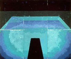 David Hockney, Schwimmbad Mitternacht (Paper Pool 11), 1978 on ArtStack #david-hockney #art