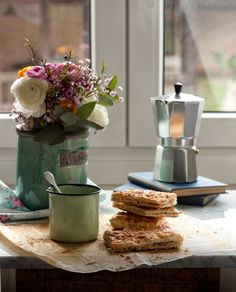 This looks like the perfect 'Sunday morning' to me! Good morning everyone :) But First Coffee, Best Coffee, My Coffee, Sweet Cooking, Chicharrones, Tea And Books, Good Morning Everyone, Sunday Morning, Tea Sandwiches