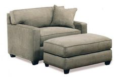 Ethan Chair & Half The Ethan is cozy, comfy and very inviting. Add this oversized chair to your living room and it's sure to become a favorite spot to relax and watch TV. #chairandahalf #livingroom