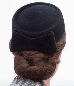Kate in Thiepval, Northern France, June 30, 2016. Black Pillbox Hat