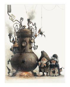 SIGNED Fine Art Print  Brewers  small door StudioJBMongeGoblin