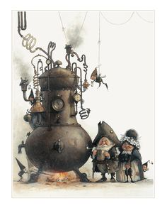 Etsy の Small Fine Art Print  Brewers by StudioJBMongeGoblin