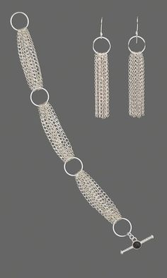 Bracelet and Earring Set with Sterling Silver Chain and Jumprings - Fire Mountain Gems and Beads