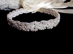 Wedding Dress Beaded Embellished Crystal Sash Belt. $150.00, via Etsy. very pretty