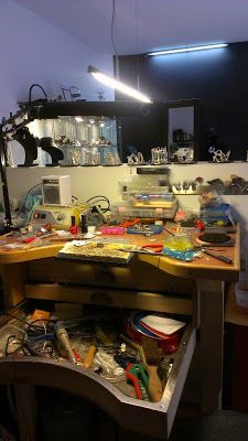 Artists jewelry workspace on pinterest workbenches for Garcia s jewelry bench