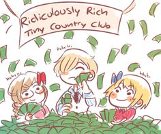 I knew Liechtenstein was rich, I didn't know Luxembourg and Monaco were too though XD <<< Who cares, let them be happy