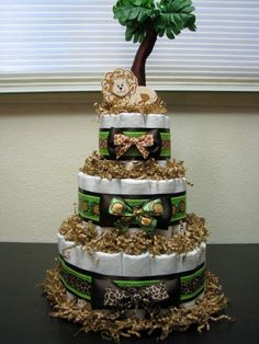 Jungle/Safari Diaper Cake--TARA OGDIN