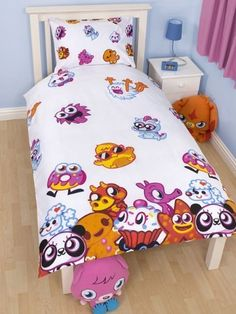 Moshi Monsters Bedding Duvet Quilt Cover Set Cutie Pie, Snookums and Oddie