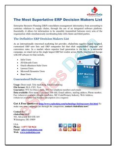 the-most-superlative-erp-decision-makers-list by kim smith via Slideshare