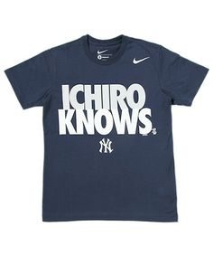 Short-Sleeve T-shirts(ショートスリーブT)のNIKE SPORTS WEAR / ICHIRO KNOWS TEE(Tシャツ・カットソー)|ネイビー