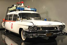 "The Ecto-1 -- a 1959 Cadillac Miller-Meteor ambulance -- from ""Ghostbusters"""