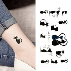 d55c4c2a6 Oottati Small Cute Temporary Tattoo Cats Love Totem 2 Sheets ** More info  could be