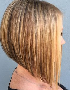 21 Eye-catching A-line Bob Hairstyles: #14. A-line bob with longer front