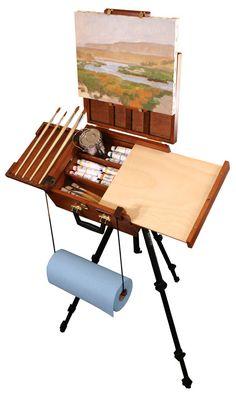 Sienna All in One Plein Air Artist Pochade Box by Craftech Home Art Studios, Art Studio At Home, Plein Air Easel, Pochade Box, Art Studio Design, Design Studios, Art Studio Organization, Art Easel, Art Storage