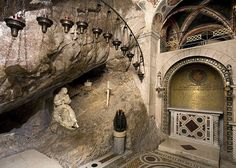 The sacred cave of St Benedict Subiaco Italy