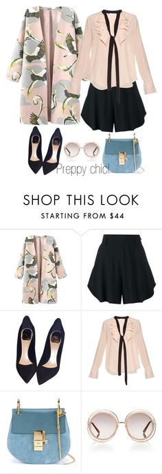 """""""HOW TO;PREPPY CHIC"""" by eiliana ❤ liked on Polyvore featuring Chloé and Christian Dior"""