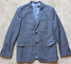 PERRY ELLIS Men's Gray SUPER SOFT Blazer Sport Jacket ~NWT~ Size 42 R Slim Fit    eBay