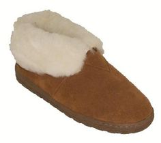 RJ's Fuzzies Womens Leather Booties Slippers (Chestnut, 9) * Visit the image link more details.