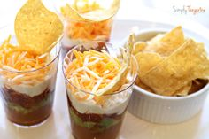 Love this party idea. Maybe salsa instead? Now how many little kids will eat their own personal 7 layer dip? Dora The Explorer Birthday Party Baby Girl Birthday Theme, 2nd Birthday Party Themes, First Birthday Parties, Birthday Celebration, Birthday Ideas, 4th Birthday, Dora The Explorer, Good Food, Birthdays