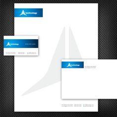 A Blue Stationery Set Design. #stationery #design  $29.00