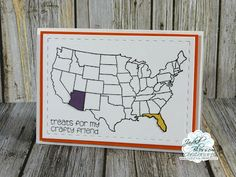 Hello everyone! It's time for Day 2 of the Jaded Blossom ~ August Release . United States Map, Travel Cards, State Map, Hello Everyone, Stamp, Crafty, Color, Art, Art Background
