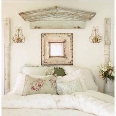 Like the pediment above the bed