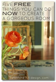 Five FREE things you can do NOW to create a gorgeous room. Easy tricks for decorating your space that will make your home beautiful TODAY!! #interiors #interiordesign via @FieldstoneHill Design, Darlene Weir Design, Darlene Weir Design, Darlene Weir