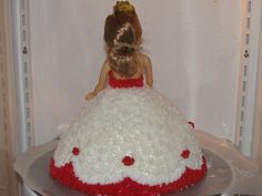 Back of Valentines Doll Cake