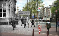 """""""Anne Frank's Amsterdam"""", quand le passé rencontre le présent grâce àune série de photographies qui transporte dans le présentl'Amsterdam de l'époque"""