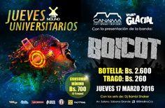 """El Molino presenta: """"Jueves Universitarios con BOICOT"""" http://crestametalica.com/events/el-molino-presenta-jueves-universitarios-con-boicot/ vía @crestametalica"""