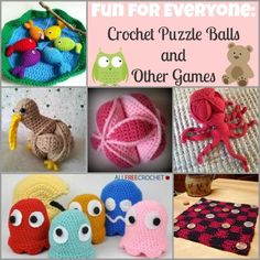 Fun for Everyone: 10 Crochet Puzzle Balls and Other Games