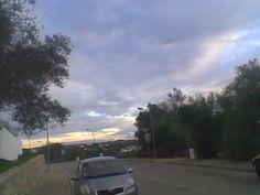 Céu de tempestade na estrada de Loulé para Salir.