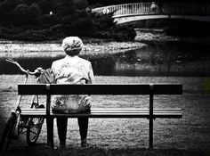 #bw photo #old #woman #lonely