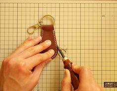 Make a Cool Leather Key Ring Tag   Guidecentral