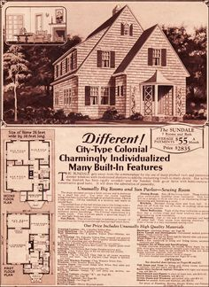 1930 Montgomery Ward Sundale: a vestibule, a half-bath, a sewing room and a sun porch. Could you ask for anything more?