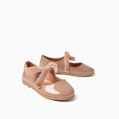 VELVET RIBBON BALLERINAS-SHOES AND BAGS-BABY GIRL | 3 months-3 years-KIDS-SALE | ZARA United States