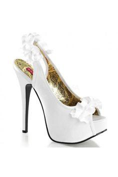 chaussures de marie escarpins froufrous blanc noir rouge fushia bleu violet argent accessoires - Escarpin Argent Mariage