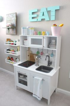 This play kitchen is nicer than our real kitchen! Soooo cute!...