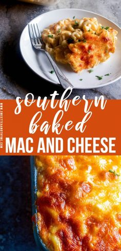 Southern baked macaroni and cheese also called soul food mac and cheese is the ultimate in comfort food. Creamy rich ooey-gooey super cheesy with those crispy browned cheese edges.no one can resist perfectly baked mac and cheese. Southern Macaroni And Cheese, Best Macaroni And Cheese, Making Mac And Cheese, Macaroni Cheese Recipes, Bake Mac And Cheese, Baked Cheese, Baked Mac And Cheese Recipe Soul Food, Cheddar Cheese, Cooking Macaroni