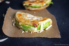 Easy Avocado and Hummus Quesadillas Recipe Lunch and Snacks with tortillas, avocado, hummus, cheese, salt