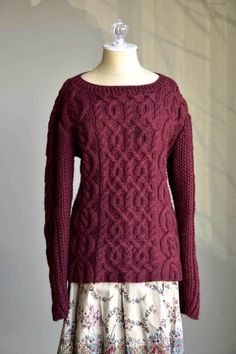 Free Knitting Pattern - Valentina pullover in Universal Yarn Deluxe Chunky by Amy Gunderson.  Gorgeous cables.