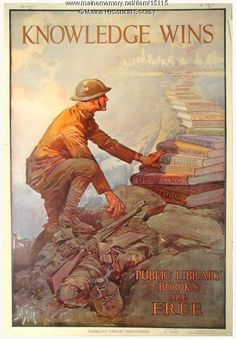 World War I library poster, ca. 1918. Item # 15115 on Maine Memory Network