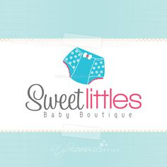 Baby boutique logo premade design and watermark