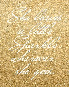 She Leaves a Little Sparkle Digital Printable by PennyJaneDesign