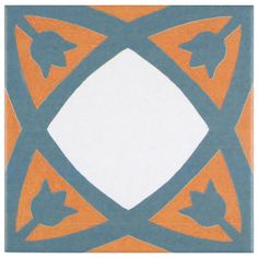 SomerTile 7.75x7.75-inch Renaissance Tulip Ceramic Floor and Wall Tile (Case of 25) | Overstock™ Shopping - Big Discounts on Floor Tiles