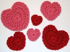 Easy hearts. AllFreeCrochet.com - Free Crochet Patterns, Crochet Projects, Tips, Video, How-To Crochet and More