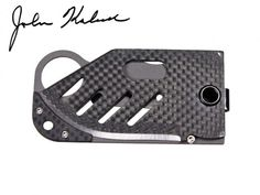 Carbon fiber and titanium money clip with d2 steel knife blade
