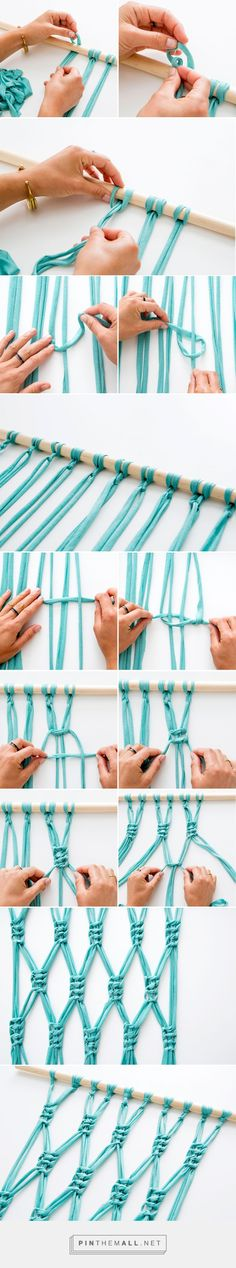 Macra-make a Gorgeous Macrame Wall Hanging | Brit + Co - created via http://pinthemall.net