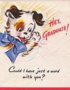 Vintage 1946 Hallmark Hey Graduate